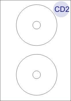 CD/DVD Labels 2 Per Page