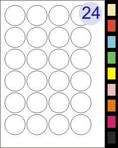24 Labels Per Page