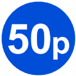 Coloured blue Pricing Stickers