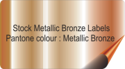 Bronze Coloured Stickers