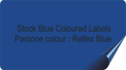 Dark Blue Coloured Labels