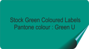 Dark Green Coloured Labels