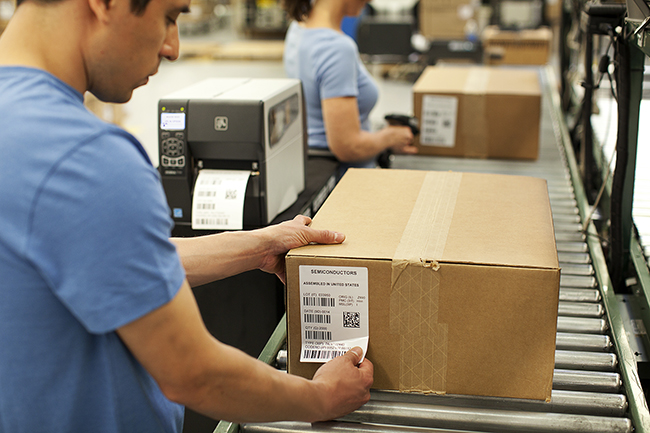 Direct Thermal Labels in use