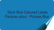 Mid Blue Coloured Labels