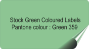 Mid Green Coloured Labels