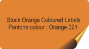 Orange Coloured Labels