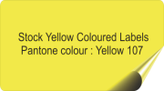 Pale Yellow Coloured Labels