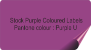 Purple Coloured Stickers