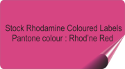 Rhodamine Red Coloured Stickers