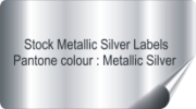 Silver Coloured Stickers