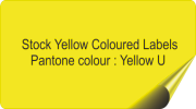 Yellow Coloured Stickers