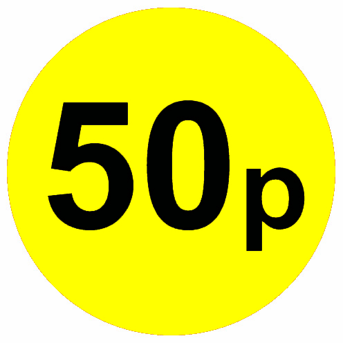 Yellow-round-price-stickers